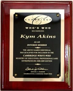 Kym Akins Award